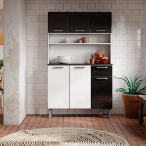 Alacena Multiusos Doble Blanco – Negro Ebani Colombia tienda online de decoración y mobiliario Bertolini