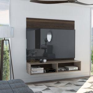 Centro de entretenimiento o mesa para TV 60 Fraktal habano-miel Ebani Colombia tienda online de decoración y mobiliario RTA