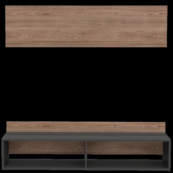 Centro de entretenimiento o mesa para TV 60 Vassek miel-plomo Ebani Colombia tienda online de decoración y mobiliario RTA