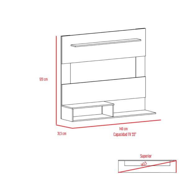 Centro de entretenimiento o mesa para TV Beijing rovere-blanco Ebani Colombia tienda online de decoración y mobiliario RTA