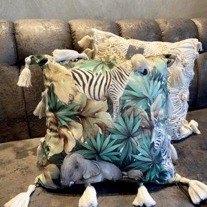 Cojín selva Ebani Colombia tienda online de decoración y mobiliario Cozzy