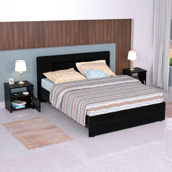 Combo cama doble + mesas de noche Ebani Colombia tienda online de decoración y mobiliario maderkit 2