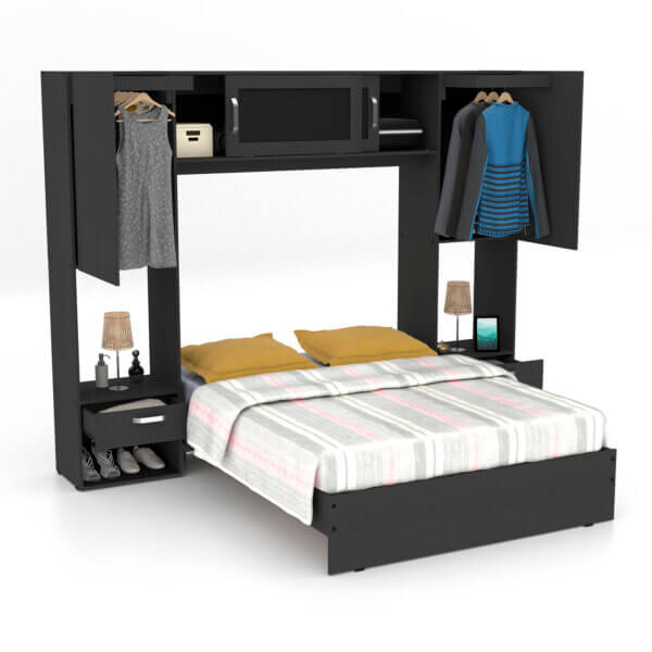 Combo dormitorio Ebani Colombia tienda online de decoración y mobiliario maderkit