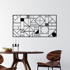 Cuadro Decorativo Geométrico 1.1 Ebani Colombia tienda online de decoración y mobiliario Lansede