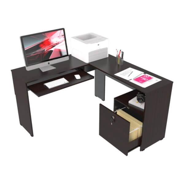 Escritorio moderno para pc o estudio en l archivador Ebani Colombia tienda online de decoración y mobiliario maderkit 2