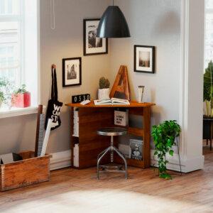 Escritorio moderno para pc o estudio esquinero Ebani Colombia tienda online de decoración y mobiliario maderkit