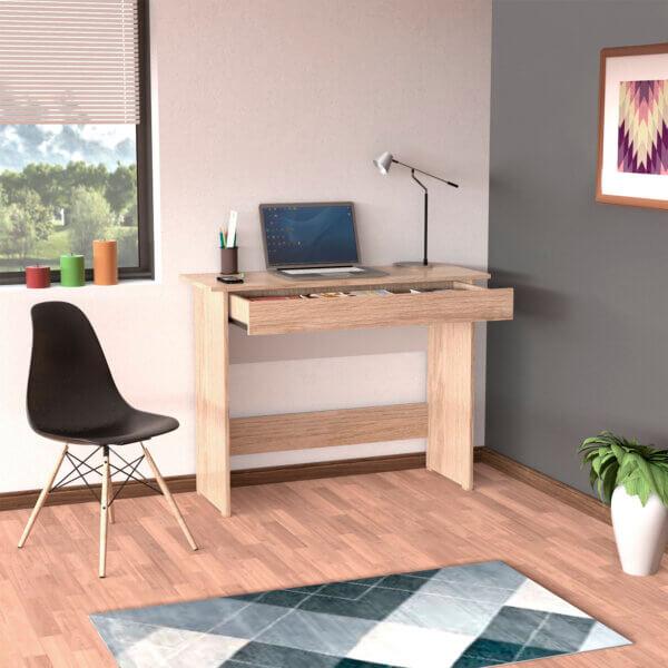 Escritorio moderno para pc o estudio sencillo con cajon Ebani Colombia tienda online de decoración y mobiliario maderkit