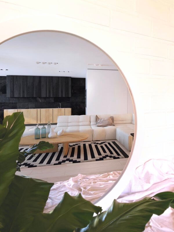 Espejo Decorativo circular con marco Ebani Colombia tienda online de decoración y mobiliario Cozzy