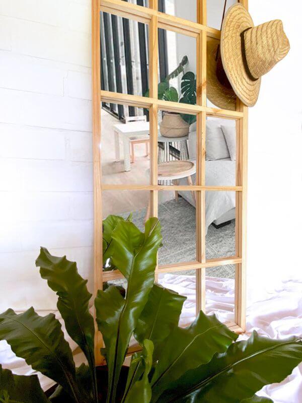 Espejo Decorativo cuadrícula natural Ebani Colombia tienda online de decoración y mobiliario Cozzy