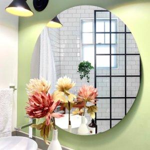 Espejo Decorativo redondo flotante Ebani Colombia tienda online de decoración y mobiliario Cozzy
