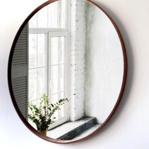 Espejo Decorativo redondo madera doblada Ebani Colombia tienda online de decoración y mobiliario Cozzy