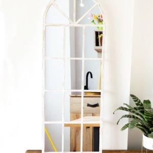 Espejo Decorativo ventana arco blanco Ebani Colombia tienda online de decoración y mobiliario Cozzy