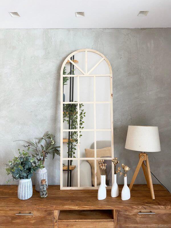 Espejo Decorativo ventana arco natural