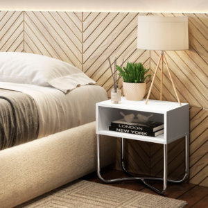 Mesa Multiusos – Blanco Cromado Ebani Colombia tienda online de decoración y mobiliario Bertolini