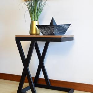 Mesa auxiliar kappa oscura Ebani Colombia tienda online de decoración y mobiliario Ferrum