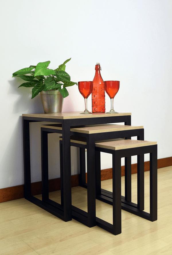 Mesa auxiliar kenia clara Ebani Colombia tienda online de decoración y mobiliario Ferrum
