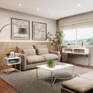 Mesa de centro - Blanco Ebani Colombia tienda online de decoración y mobiliario Bertolini