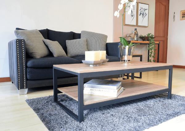 Mesa de centro dakota oscura Ebani Colombia tienda online de decoración y mobiliario Ferrum