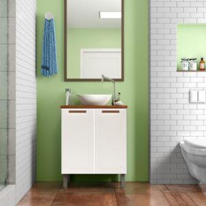 Mueble De Baño Con Lavamanos – Blanco Ebani Colombia tienda online de decoración y mobiliario Bertolini