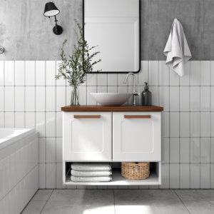 Mueble De Baño Nicho Inferior Con Lavamanos – Blanco Ebani Colombia tienda online de decoración y mobiliario Bertolini