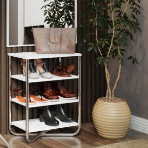 Mueble Multiusos – Blanco Cromado Ebani Colombia tienda online de decoración y mobiliario Bertolini