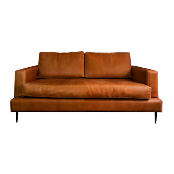 Sofá minimalista Soffa de 2 puestos 100% Cuero