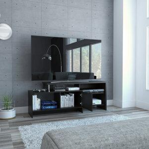 Centro de entretenimiento o mesa para TV Bengala wengue Ebani Colombia tienda online de decoración y mobiliario RTA