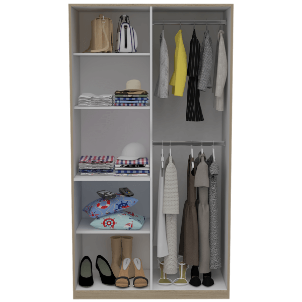 Clóset Tradición rovere+blanco Ebani Colombia tienda online de decoración y mobiliario RTA