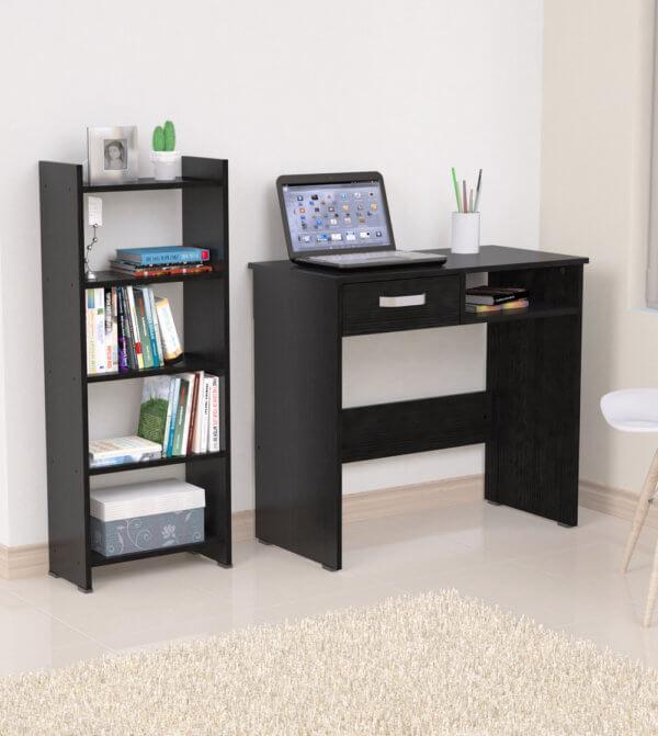 Escritorio moderno para pc o estudio Con Biblioteca Ebani Colombia tienda online de decoración y mobiliario Maderkit