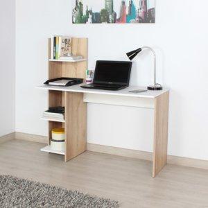 Escritorio moderno para pc o estudio con Biblioteca wex Ebani Colombia tienda online de decoración y mobiliario Maderkit