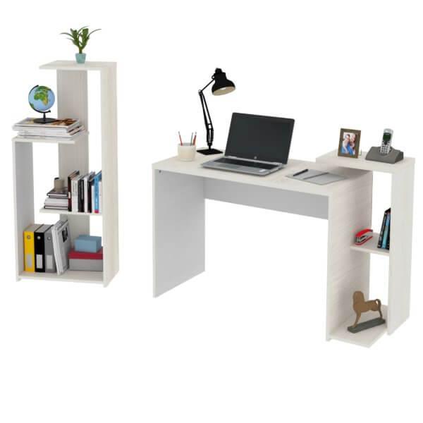 Escritorio moderno para pc o estudio y Biblioteca Z Ebani Colombia tienda online de decoración y mobiliario Maderkit
