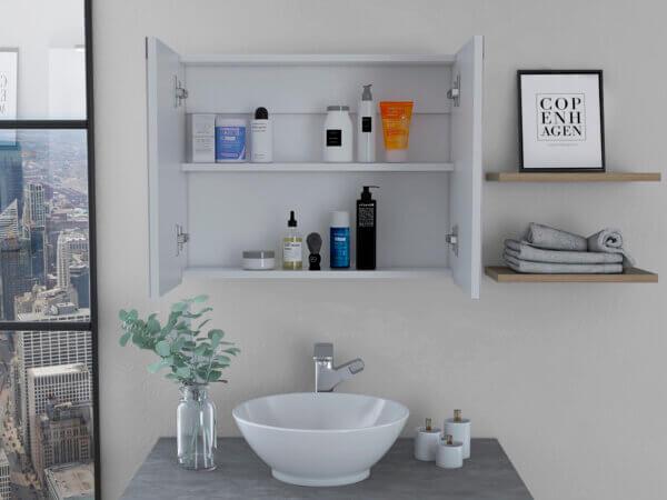 Gabinete de baño Neve blanco Ebani Colombia tienda online de decoración y mobiliario RTA