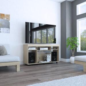 MLR3100 Mesa Tv Vermon Rovere Ambientada cerrada Ebani Colombia tienda online de decoración y mobiliario RTA