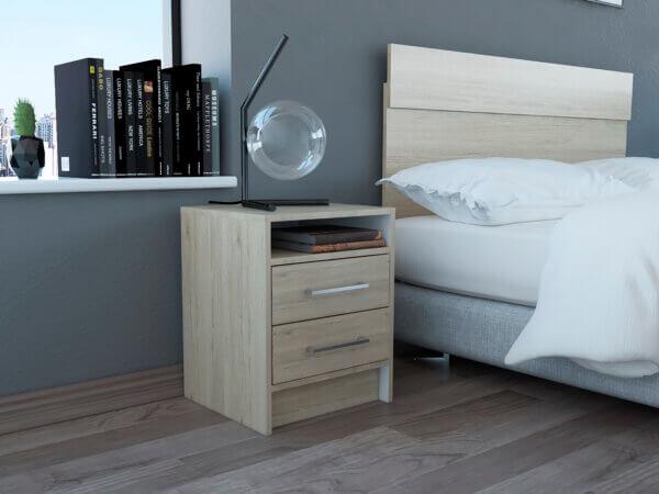 Mesa de noche o Nochero Éter rovere-blanco Ebani Colombia tienda online de decoración y mobiliario RTA