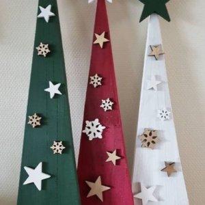 Set de 3 árboles navideños Ebani Colombia tienda online de decoración y mobiliario Kubiko
