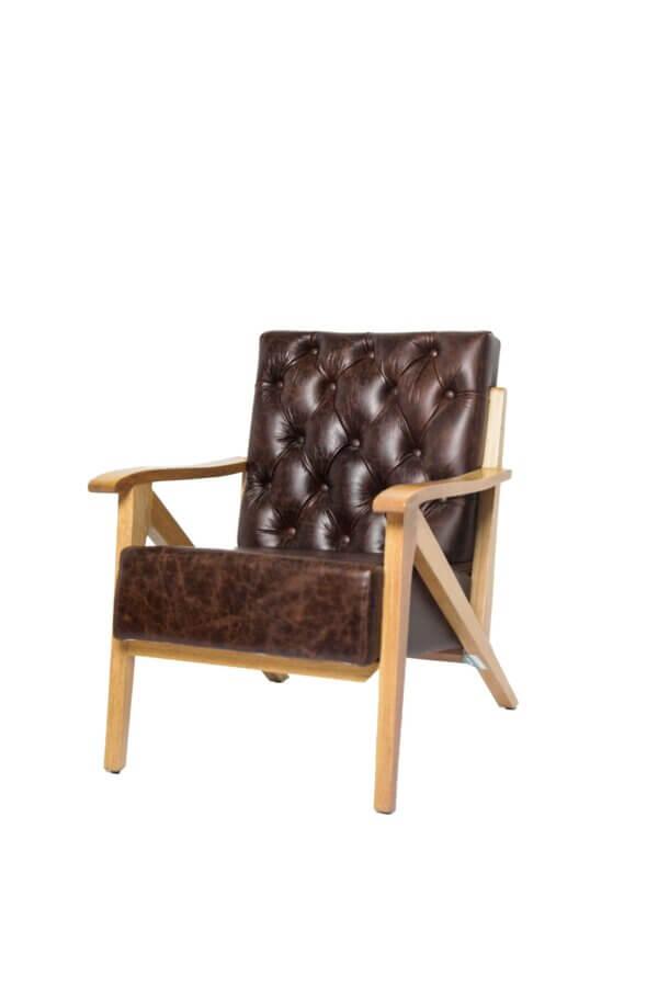 Silla Bergen en cuero Ebani Colombia tienda online de decoración y mobiliario Murano galeria