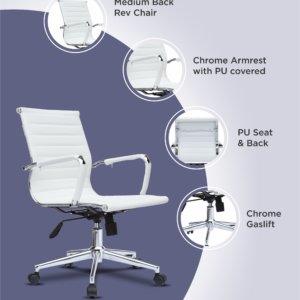 Silla de oficina Axel blanco Ebani Colombia tienda online de decoración y mobiliario RTA