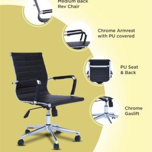Silla de oficina Axel negro Ebani Colombia tienda online de decoración y mobiliario RTA