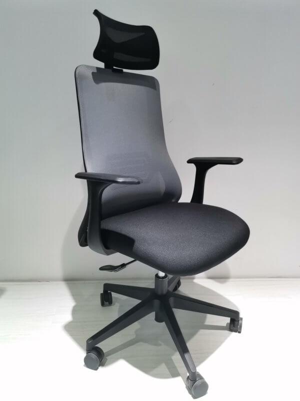 Silla de oficina Livia negro + gris Ebani Colombia tienda online de decoración y mobiliario RTA