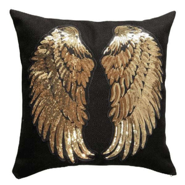 Cojín decorativo alas doradas Ebani Colombia tienda online de decoración y mobiliario Anuk