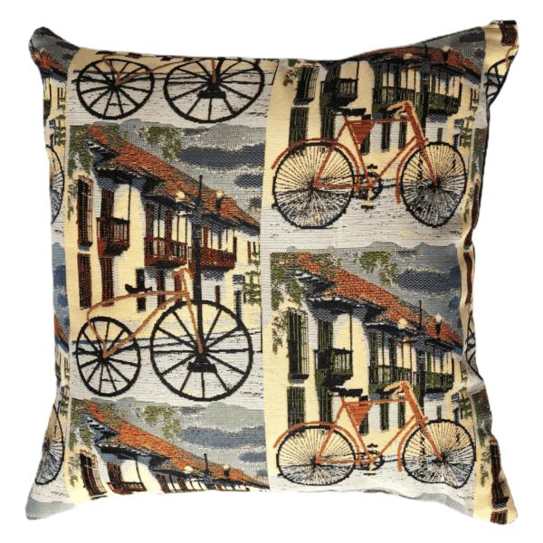 Cojín decorativo bicicletas Ebani Colombia tienda online de decoración y mobiliario Anuk