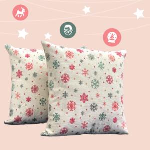 Cojín decorativo copos de nieve Ebani Colombia tienda online de decoración y mobiliario Anuk
