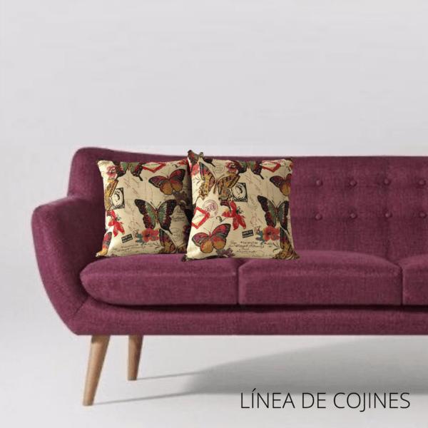Cojín decorativo mariposas Ebani Colombia tienda online de decoración y mobiliario Anuk