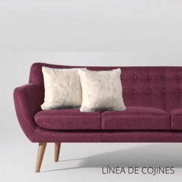 Cojín decorativo peluche blanco Ebani Colombia tienda online de decoración y mobiliario Anuk
