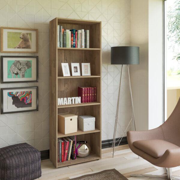 Biblioteca Multy Rústico Ebani Colombia tienda online de decoración y mobiliario Bertolini
