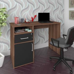 Escritorio para pc o Estudio Hall - Marrón-Negro Ebani Colombia tienda online de decoración y mobiliario Bertolini