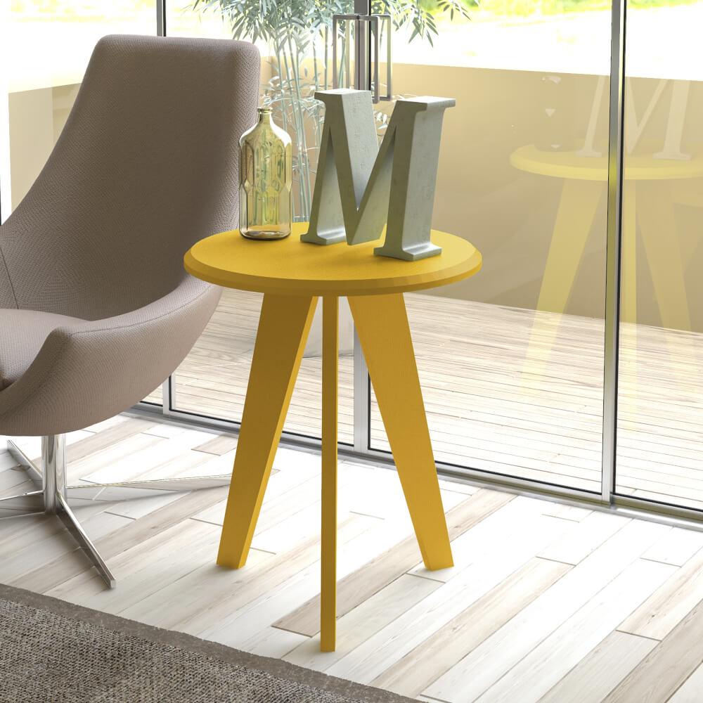 Mesa Auxiliar Lateral Ellis Amarillo Ebani Colombia tienda online de decoración y mobiliario Bertolini