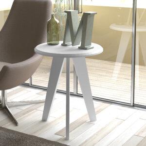 Mesa Auxiliar Lateral Ellis Blanco Ebani Colombia tienda online de decoración y mobiliario Bertolini