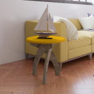 Mesa Auxiliar Lateral Jade Amarillo con Canela Ebani Colombia tienda online de decoración y mobiliario Bertolini