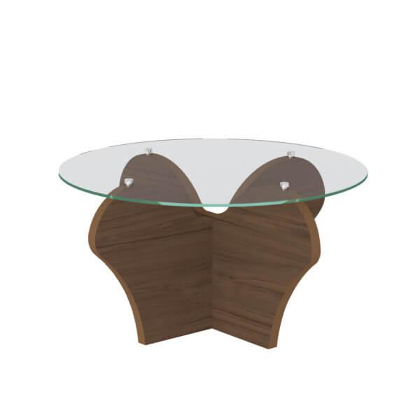 Mesa de Centro Floratta Imbuia Ebani Colombia tienda online de decoración y mobiliario Bertolini